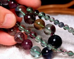 361 Carat Fluorite Strand, Graduated 6mm to 17mm, 17 Inches