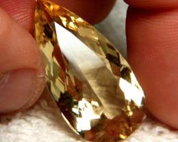 CERTIFIED - 23.848 Carat VS2 South American Golden Beryl