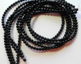 """AAA BLACK ONYX 4MM PLAIN ROUND BEADS!!"""