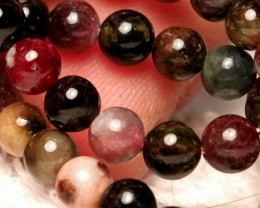 87.0 Tcw. Tourmaline Strand, 15.75 inches, 5mm pcs.