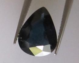 1.55cts Natural Australian Blue Pear Shape Sapphire