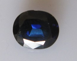 1.46cts Natural Australian Blue Oval Shape Sapphire