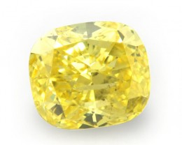 NATURAL -RAREST CANARY YELLOW DIAMOND-0.44CTW SIZE-1PCS