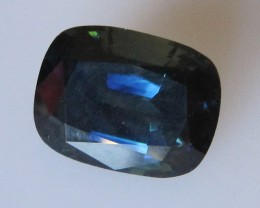 9.30cts Natural Australian Cushion Cut Blue Sapphire