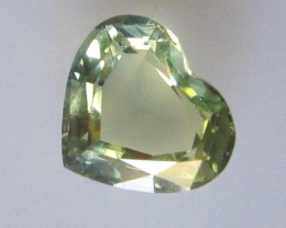 1.18cts Natural Australian Yellow Parti Sapphire Heart Shape