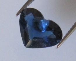 1.72cts Natural Australian Blue Heart Shape Sapphire