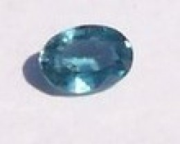 1.0 CT VVS NEON BLUE ZIRCON OVAL GEM.