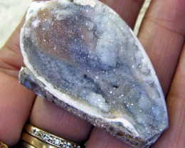 DRUSY SHELL FOSSIL NATURAL DRUSY 119.80 CTS AS-A7047