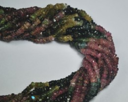 2 Strands of 14 Inches Natural Tourmaline Tumbled Beads
