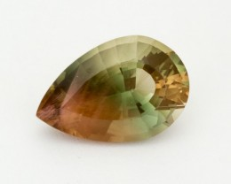 SALE WAS $1735 ~ 9.5ct Oregon Sunstone, Green/Champagne Pear (S16)