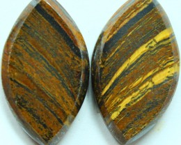 19.75 CTS TIGER EYE PAIR OF STONES