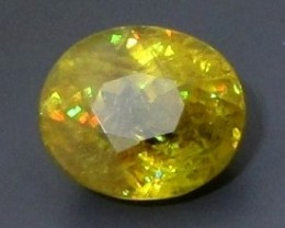 CERT 6.76ct Greenish Yellow SPHENE TITANITE Madagascar