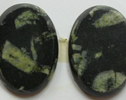 37.75 CTS FEATHER AGATE PAIR OF STONES