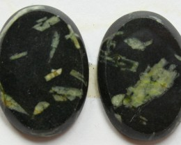 36.70 CTS FEATHER AGATE PAIR OF STONES