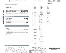 1.00ct Round Brillinat Diamond G-VVS2 GIA CERTIFICATION NR