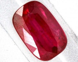 2.02 cts CERTIFIED UNHEATED RED PINK BRIGHT  RUBY 2.02CTS