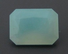 0.92ct FACETED Peruvian BLUE OPAL ~ Natural Color !