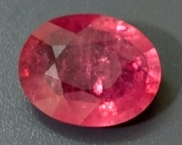 3.56ct Pinkish Red RUBY Mozambique
