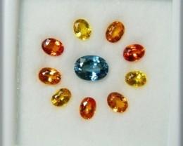 Jewelers Delight Multicolor Sapphire Facet Stone Set A2