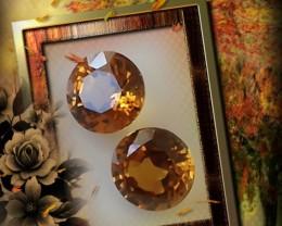 A pair of Bronze Orange Mali Garnets 4.30mm Gems