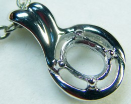 14K WHITE GOLD PENDANT POLISHED FINIDING MY203ml