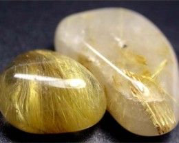 RUTILATED QUARTZ PARCEL - GOLDEN NEEDLES  45 CTS [MGW1161 ]