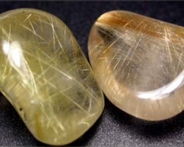 RUTILATED QUARTZ PARCEL - GOLDEN NEEDLES  60 CTS [MGW1169 ]
