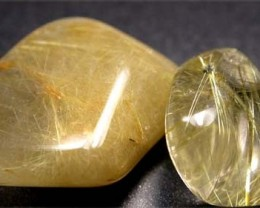 RUTILATED QUARTZ PARCEL - GOLDEN NEEDLES  35 CTS [MGW1176 ]