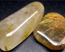 RUTILATED QUARTZ PARCEL - GOLDEN NEEDLES 30  CTS [MGW1195 ]