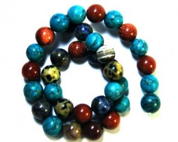 NATURAL COLOURFUL GEMSTONES MIX STRAND 360 CTS  TR 299