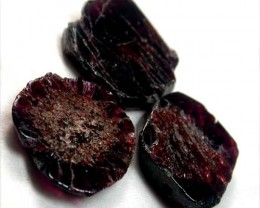 GARNET  SLICES FOR BEADS  73 CTS [MGW1354 ]