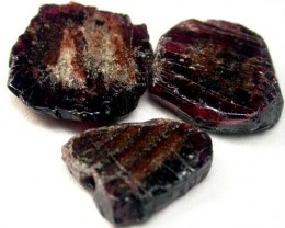 GARNET  SLICES FOR BEADS  73 CTS [MGW1367 ]