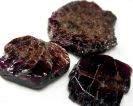 GARNET  SLICES FOR BEADS  58 CTS [MGW1370 ]