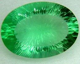 VVS1 FLOURITE GREEN UNTREATED 76.80CTS AS-AB165 COLLECTOR PC