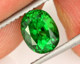 1.26 CTS CERTIFIED SI TSAVORITE GARNET-RADIANT GREEN [GNG10]