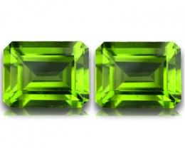 4.55 CTS SPARKLING AMAZING TOP FIRE PAKISTAN PERIDOT PAIR!!!