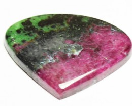 47mm Ruby Zoisite heart shape cabochon 109ct.