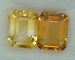 CITIRINE FACETED  PAIR NATURAL 3.8 CTS  RNG-271