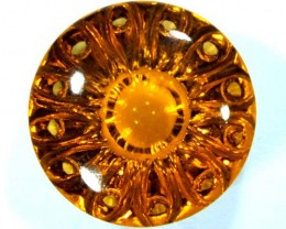 GEMSTONE CARVED CITRINE 17.5  CTS   CG-1502