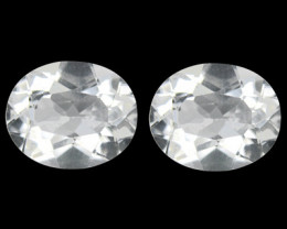 10.70 Cts BEAUTIFUL NATURAL ULTRA RARE WHITE TOPAZ PAIR