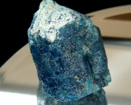COLLECTOR PC LARGE BLUE APATITE BRAZIL 342 CTS  -