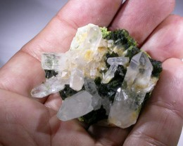 205 CTS EPIDOTE  WITH QUARTZ SPECIMEN  CHINA [MGW1100I ]