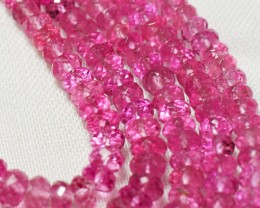 """1 14""""  35.5cm line of PINK RUBELLITE TOURMALINE beads 2.5 - 4.5mm 14in"""