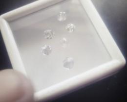 NATURAL WHITE DIAMOND ,3MMSIZE-6PCSLOT