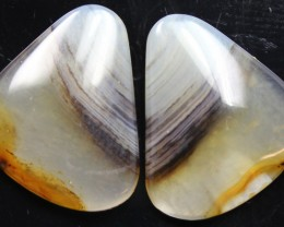 13.50 CTS WYOMING AGATE PAIR PERFECT FOR EARRINGS