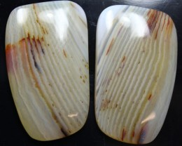 32.55 CTS WYOMING AGATE PAIR PERFECT FOR EARRINGS