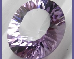SUPERB AAA VIOLET CONVAVE CUT OVAL BRAZILIAN AMETHYST-4.33CT