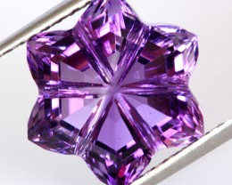 8.05 CTS VVS AMETHYST FLOWER CARVING [AME4]