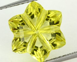 5.71 CTS VVS LEMON QUARTZ FLOWER CARVING [QTZ9]
