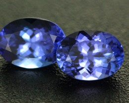 2.28CTS VVS CERTIFIED TANZANITE MATCHED PAIR - RARE [ZST320]